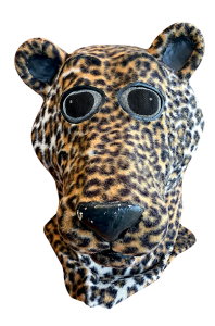 A leopard mascot head from 1988