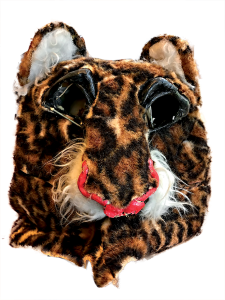 A leopard mascot head from 1985