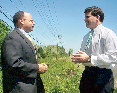 BOWIE, Md.: Todd Turner '89, city council member (left), with Maryland state senator Douglas J.J. Peters