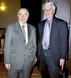 IRAQ: John Kincaid (right) with Madhat al-Mahmood, chief justice of Iraq