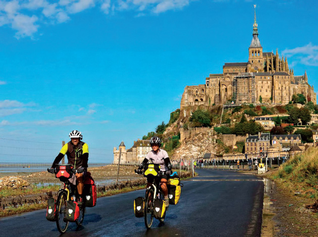 The Walshes bid farewell to Mont-Saint-Michel, a 1,000-year-old island monastery in Normandy.