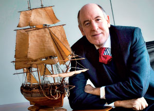 Miles Young, president of Friends of Hermione-Lafayette  in America
