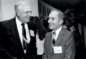 Sarkis Acopian '51 (right) with Marty Zippel '49 in 1991.