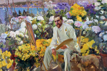 Joaquín Sorolla y Bastida (1863–1923) Louis Comfort Tiffany 1911. Oil on canvas Tiffany in the garden at Laurelton Hall Courtesy of The Hispanic Society of America, New York