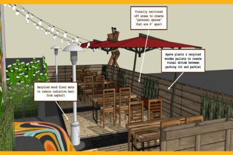 Andrew Chikcki's parklet design for Don Juan