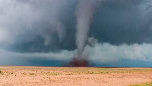 Wasserman captured this image of a tornado in Big Springs, Texas.