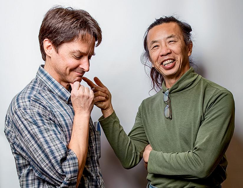 Bob Kurt and Chun Wai Liew smile