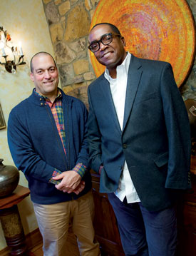 Jim Petrucci (left) and Berrisford Boothe '83  are acquiring works for the Petrucci Family  Foundation Collection of African American Art.