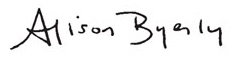 Alison Byerly Signature